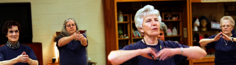 Senior women doing Tai Chi
